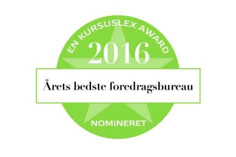 """Foredragsportalen.dk nomineret til """"Årets bedste foredragsbureau"""""""